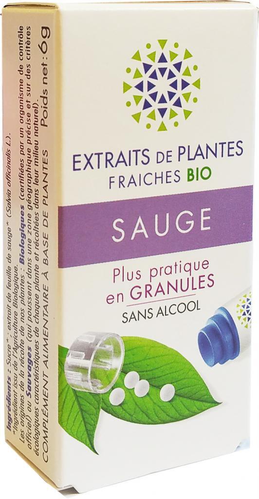 Kosmeo SAUGE Teinture Mère  d'extaits de plantes fraiches granules  Sans...