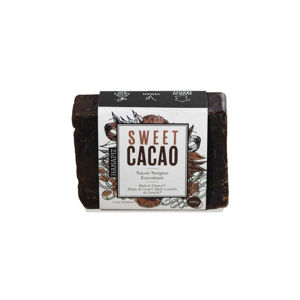 """Hanapiz - Soins Et Accessoires Au Chanvre Bio Savon surgras au chanvre et cacao - """"Sweet cacao """""""