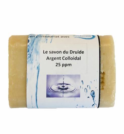 ARGENT COLLOÏDAL Le savon du druide à l'argent colloïdal 25 ppm. 100G