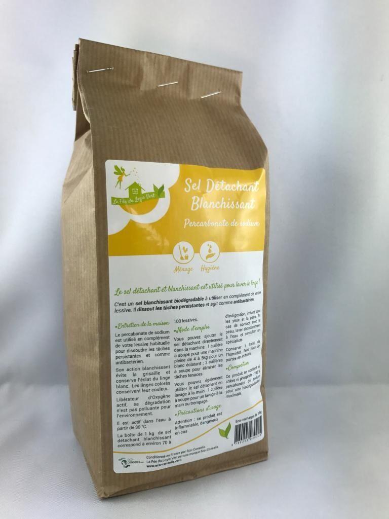 Eco-conseils Sel détachant / blanchissant bio - Recharge de 1kg