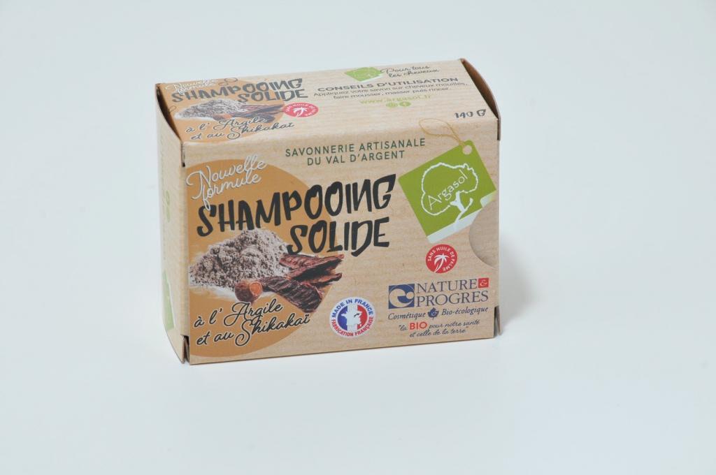 Savonnerie Argasol Shampoing solide à l'argile (rhassoul) et poudre de shikakaï