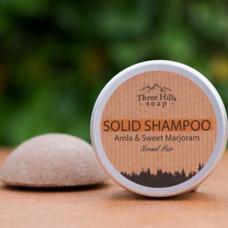 Greenecobox Shampoing solide à l'amla et à la marjolaine à coquilles