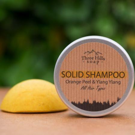 Greenecobox Shampoing solide Zeste d'orange et ylang ylang