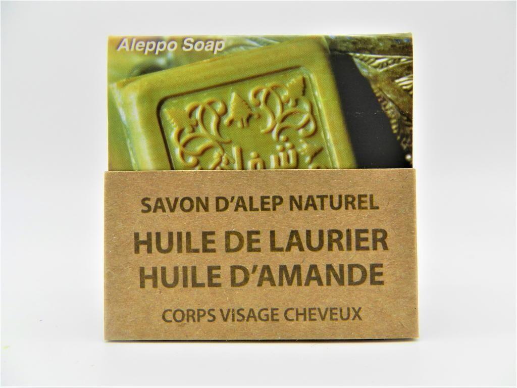 Shefaa Natural Soap Savon d'Alep Naturel à l'Huile de Laurier & à l'Huile d'Amande