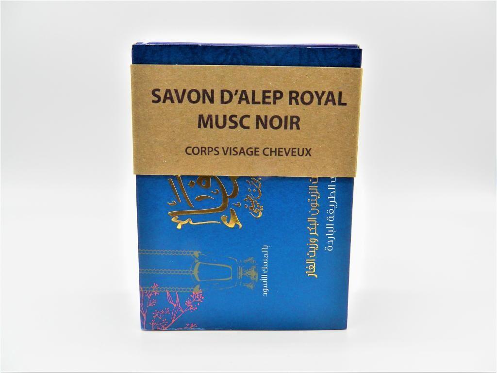 Shefaa Natural Soap Savon d'Alep Royal au Musc Noir
