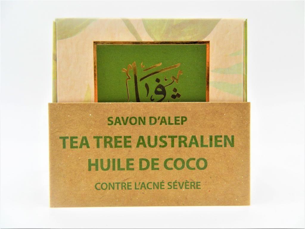Shefaa Natural Soap Savon d'Alep contre l'Acné à l'Huile de Tea Tree Australien & à...