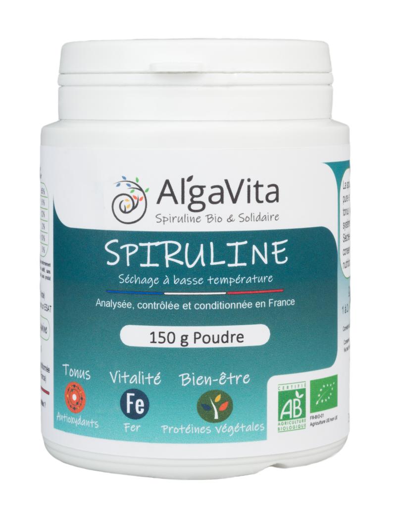 Algavita Spiruline Spiruline Bio en poudre 150 g