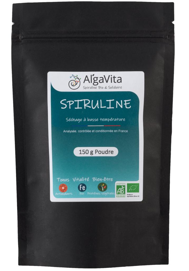 Algavita Spiruline Spiruline Bio en poudre 150g sachet