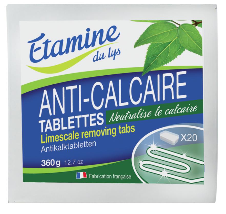 Essentielbio 20 Tablettes anti-calcaire soit 360 gr.