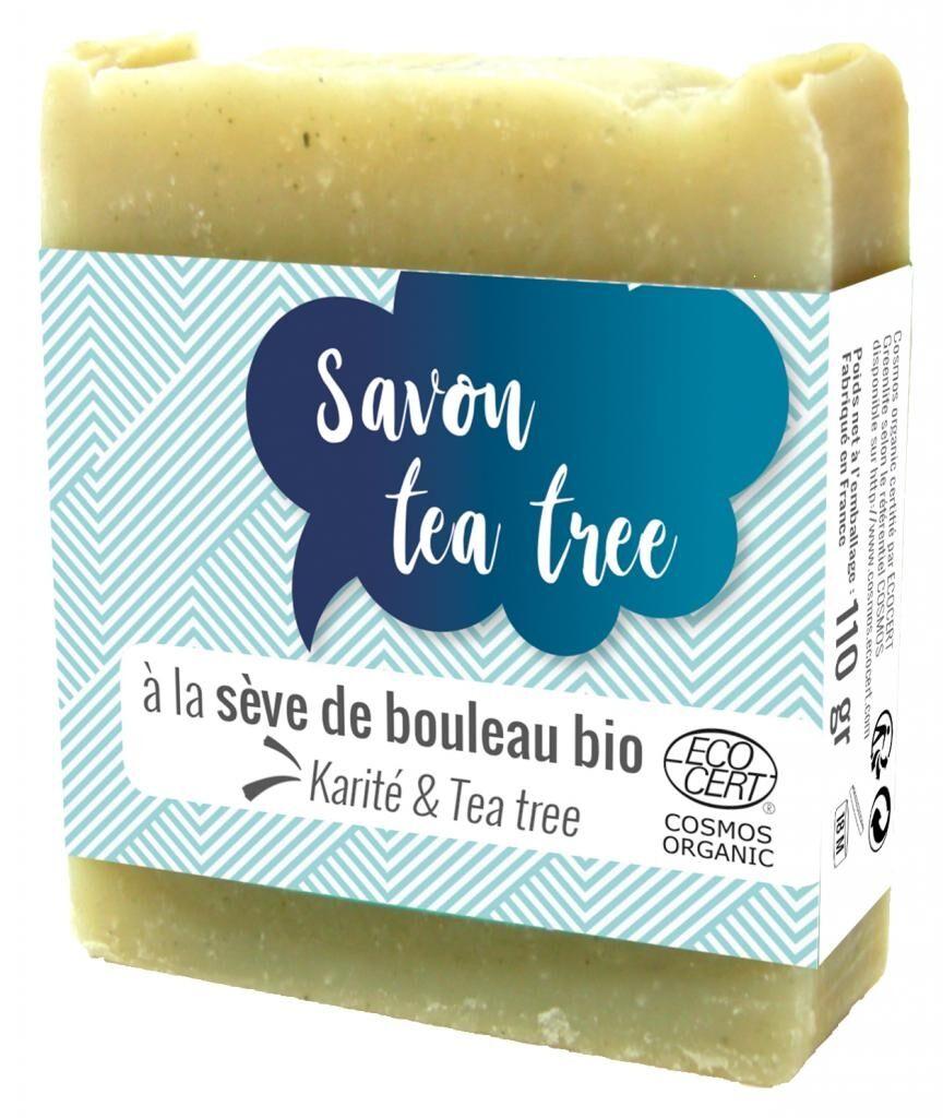 ECOCERT Savon Tea Tree - Parfum puissant de l'arbre à thé