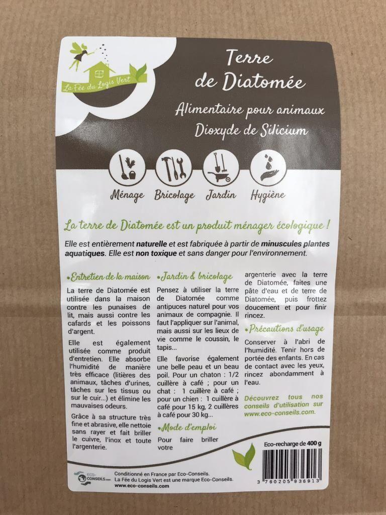 Eco-conseils - Terre de diatomée alimentaire 1Kg- (pour animaux)...