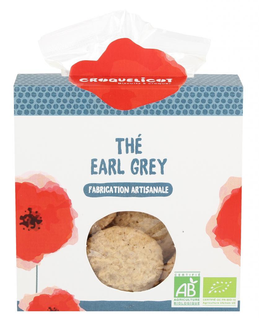 Croquelicot Biscuits Thé Earl Grey, biologique, CROQUELICOT