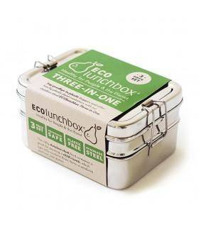 Jolie PlanÈte Three-In-One Classic - Lunch box inox Ecoluncbox