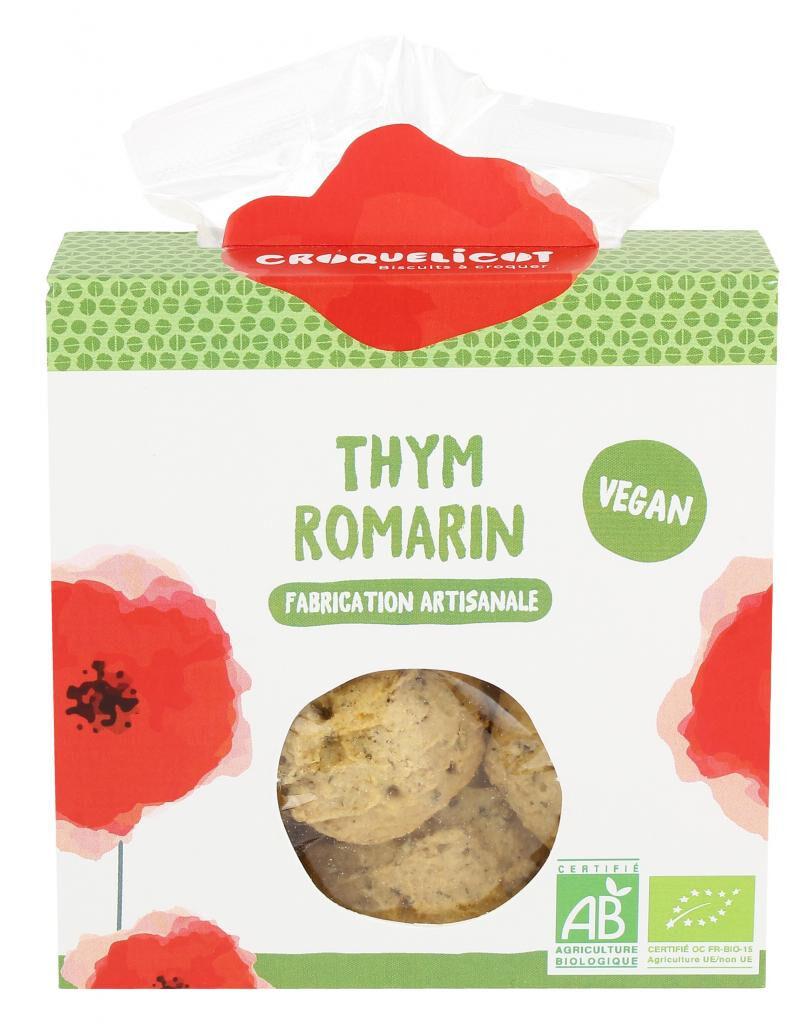 Croquelicot Biscuits Thym Romarin, biologique, CROQUELICOT