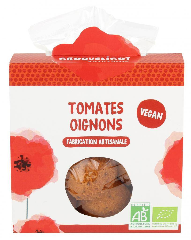 Croquelicot Biscuits Tomate Oignon, biologique, CROQUELICOT
