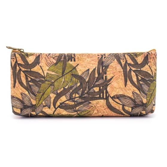 "Oak Forest Trousse à stylo en liège artisanale ""Jungle"""