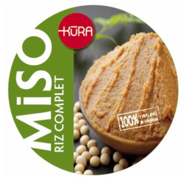 Kura De Bourgogne Miso Bio frais moyen de riz 1/2 complet jeune 10mois+ - 500g