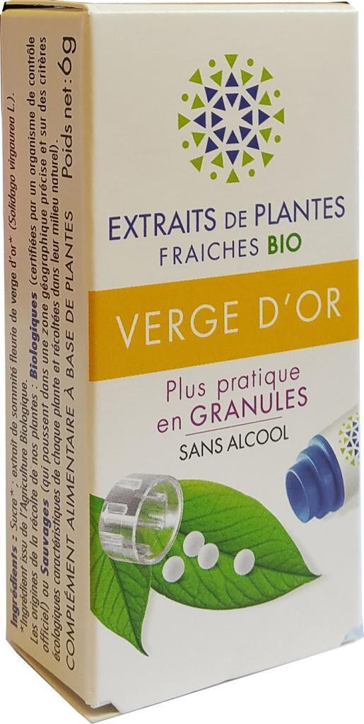 Kosmeo VERGE D'OR Teinture Mère  d'extaits de plantes fraiches granules ...