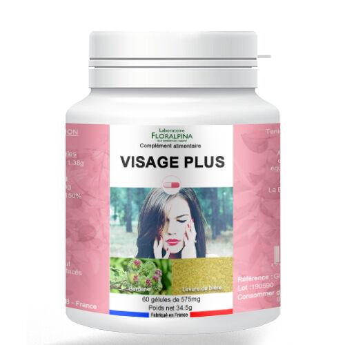 Rue Des Plantes Visage plus 60 gélules - Riche en vitamine C - Peau nette -...