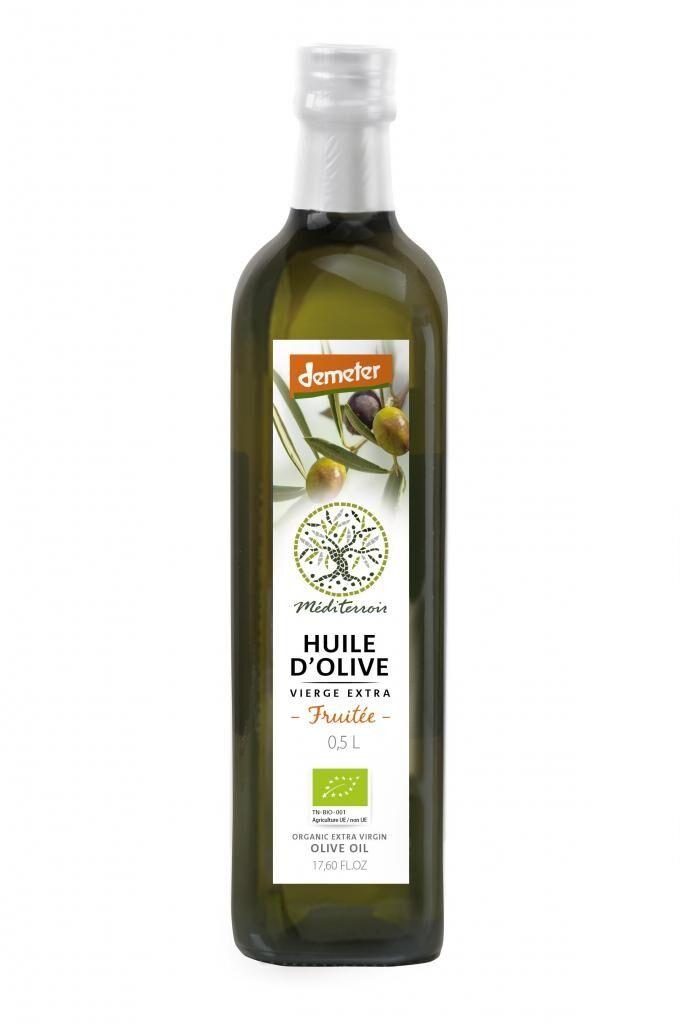 Comptoir D'ailleurs Huile d'olive bio demeter Mediterroir 0.5L