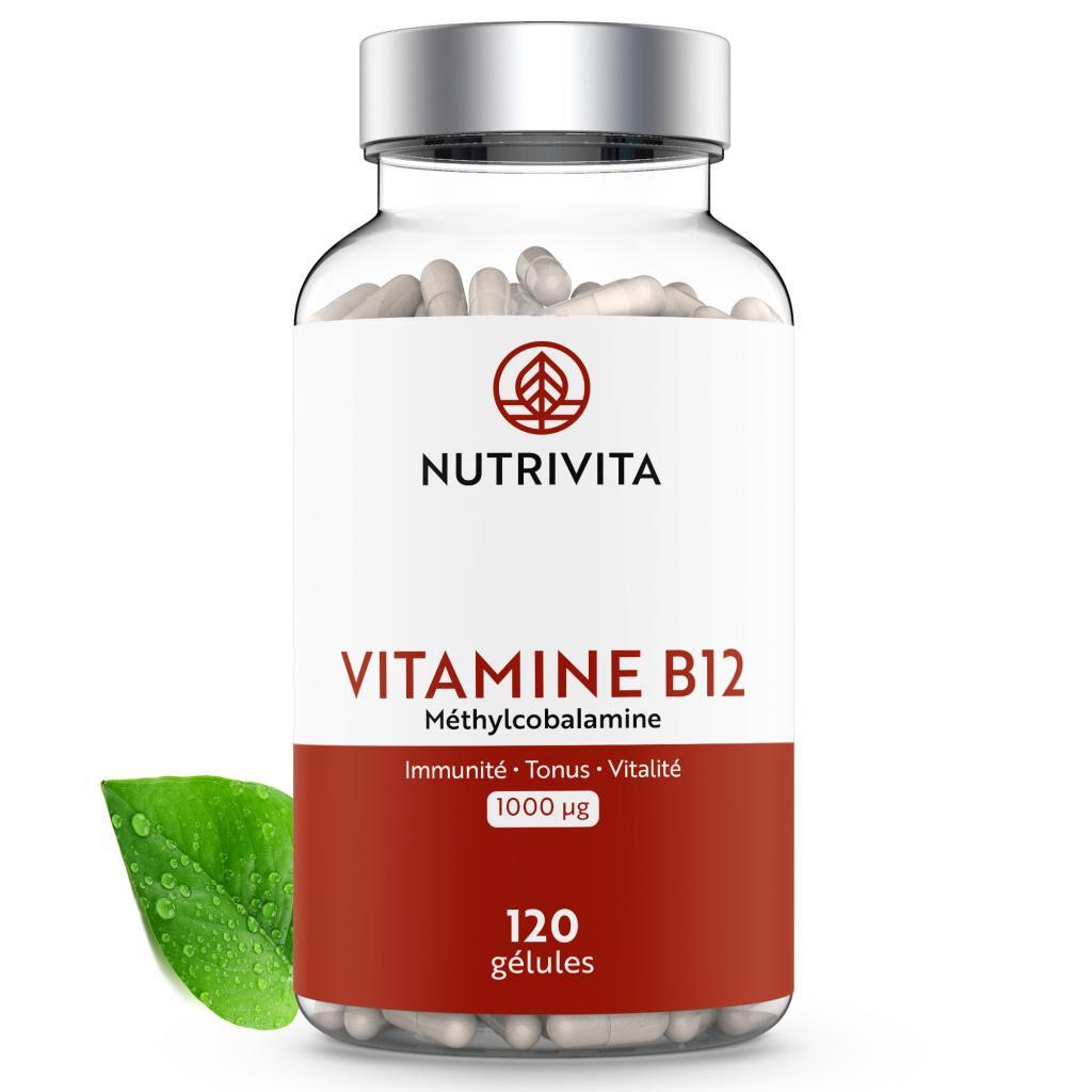 Nutrivita Vitamine B12 (méthylcobalamine) 1000mcg - 120 gélules