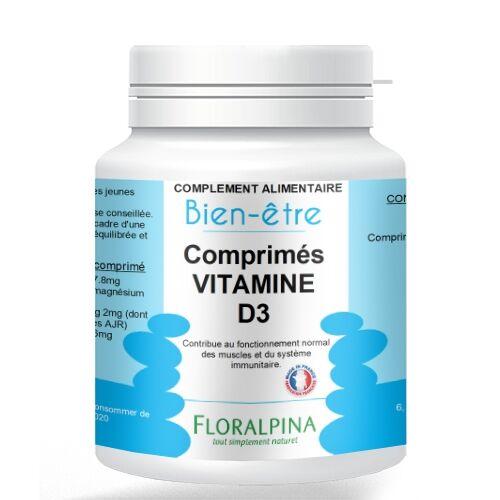 Rue Des Plantes Vitamine D3 120 comprimés, maintien d'une ossature normale,...