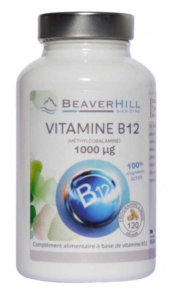 Beaverhill VITAMINE B12 - 1000 µg - Forme active Méthylcobalamine -