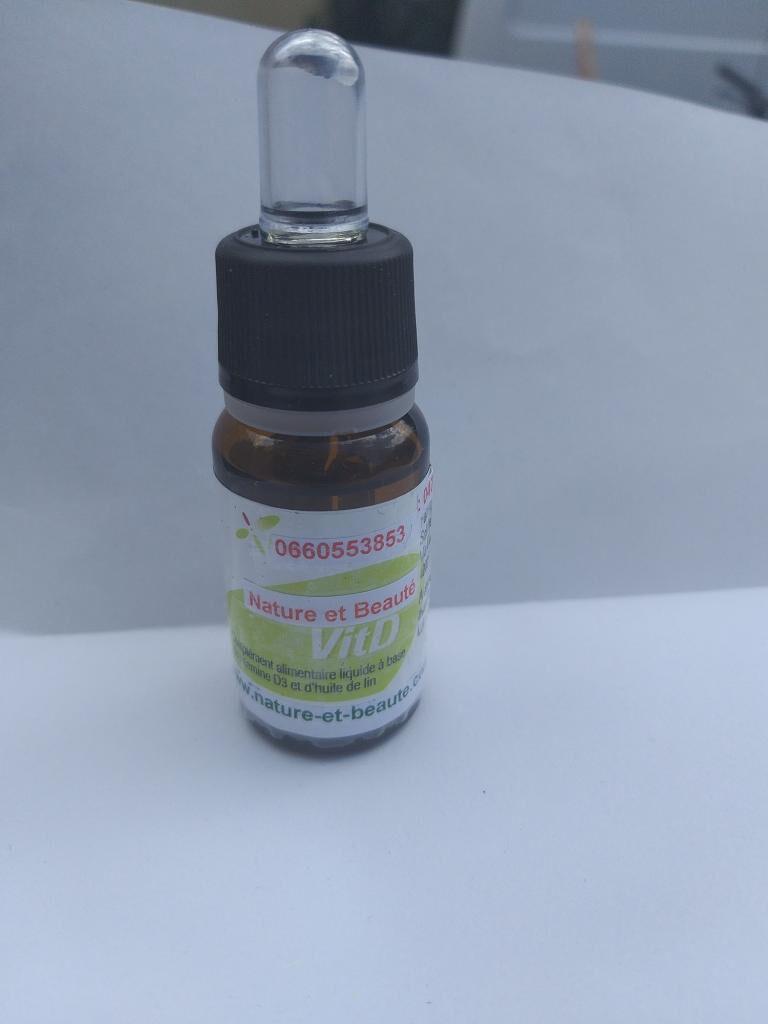 Nature Et BeautÉ Vitamine D3  liquide naturelle  2000 UI