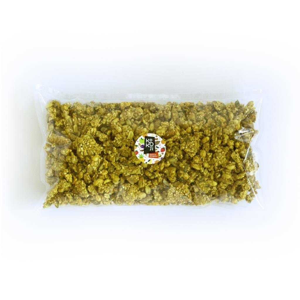 Kokoji Mix salé Bio Gingembre Curcuma 1kg - Mélange de graines...
