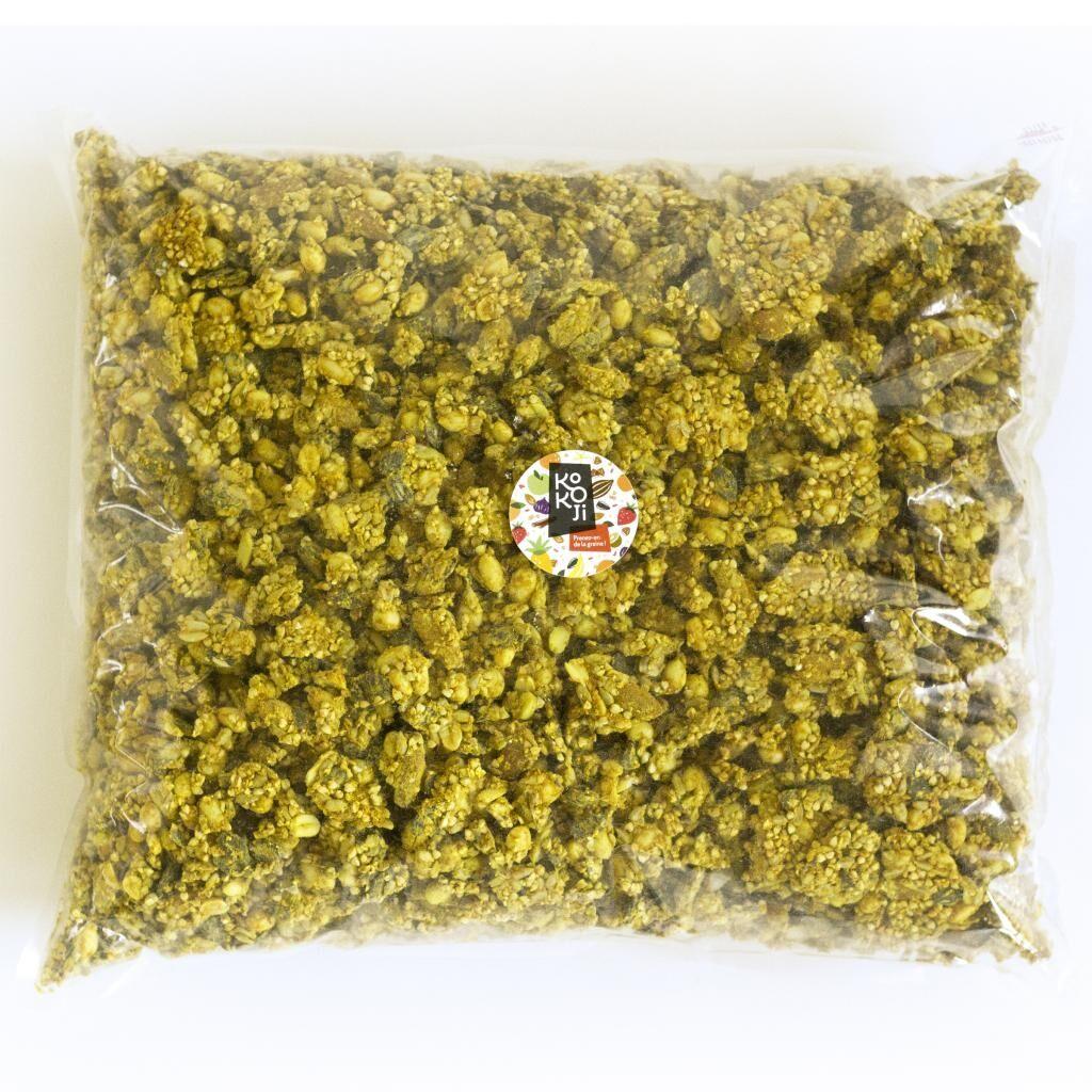Kokoji Mix salé Bio Gingembre Curcuma - Mélange de graines marinées...