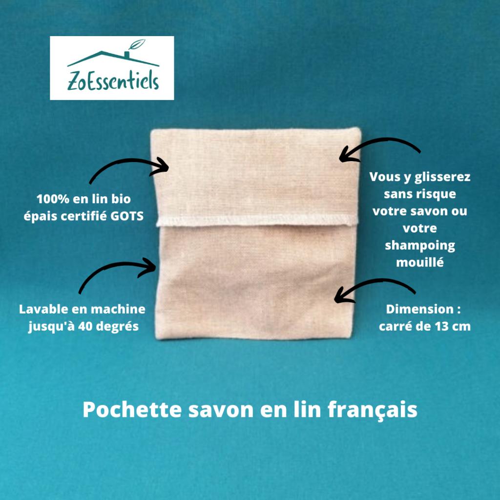 Zoessentiels Pochette savon en lin
