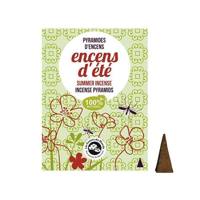 ENCENS DU MONDE - Pyramides Encens d'été anti-moustiques - 10...