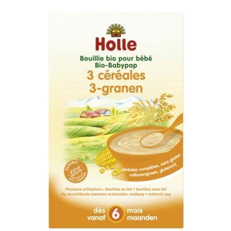 Relais Bio Bouillie Bio pour Bébé 3 céréales 250g-Holle