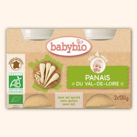 BABYBIO Petit Pot Légumes Panais du Val de Loire - 2 x 130g - Babybio