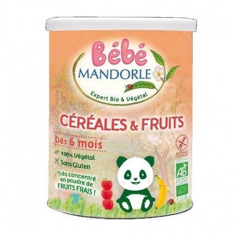 ECOCERT Céréales et Fruits Bio - 400g - Bébé Mandorle