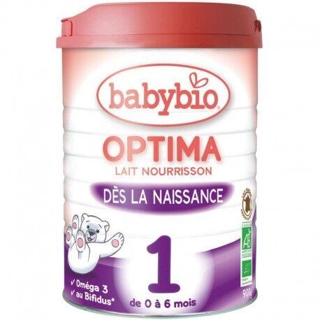 BABYBIO Optima 1 Lait Nourrisson Bio de 0 à 6 Mois - 900gr - Babybio