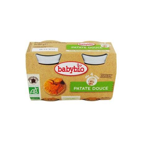 BABYBIO Patate Douce - 2 x 130g - Babybio