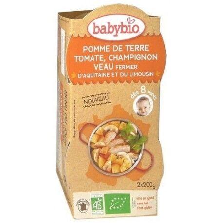 BABYBIO Pomme de Terre, Tomate, Champignon et Veau Fermier d'Aquitaine  -...