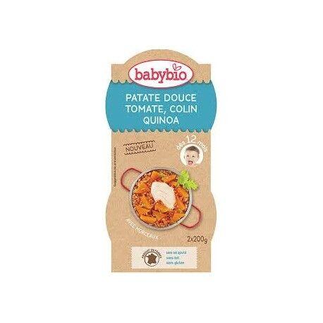 BABYBIO Patate Douce, Tomate, Colin et Quinoa  - 2x200gr - Babybio