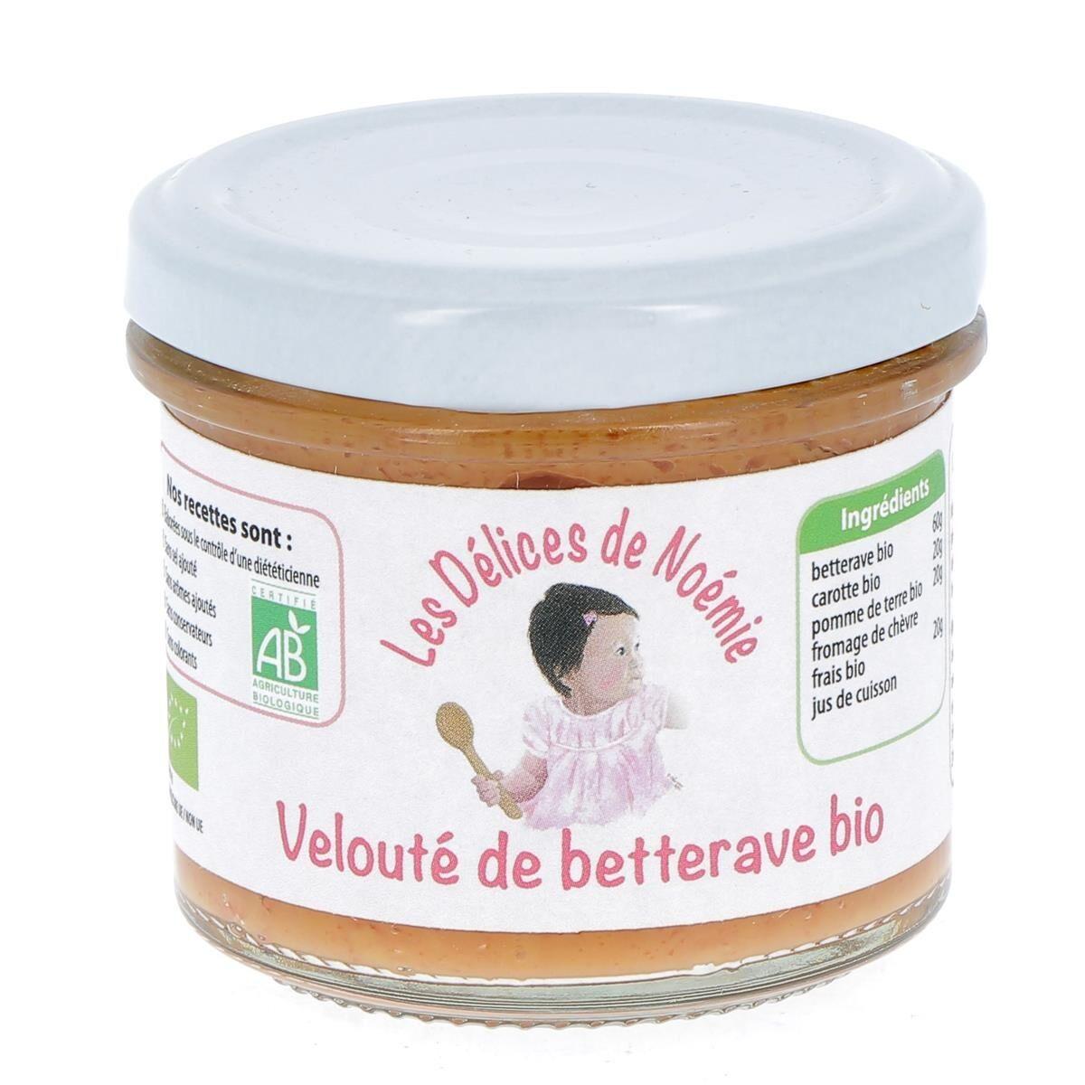 Issu D'à Côté Velouté de betterave bio pour bébé, 120 g - Dès 6 mois