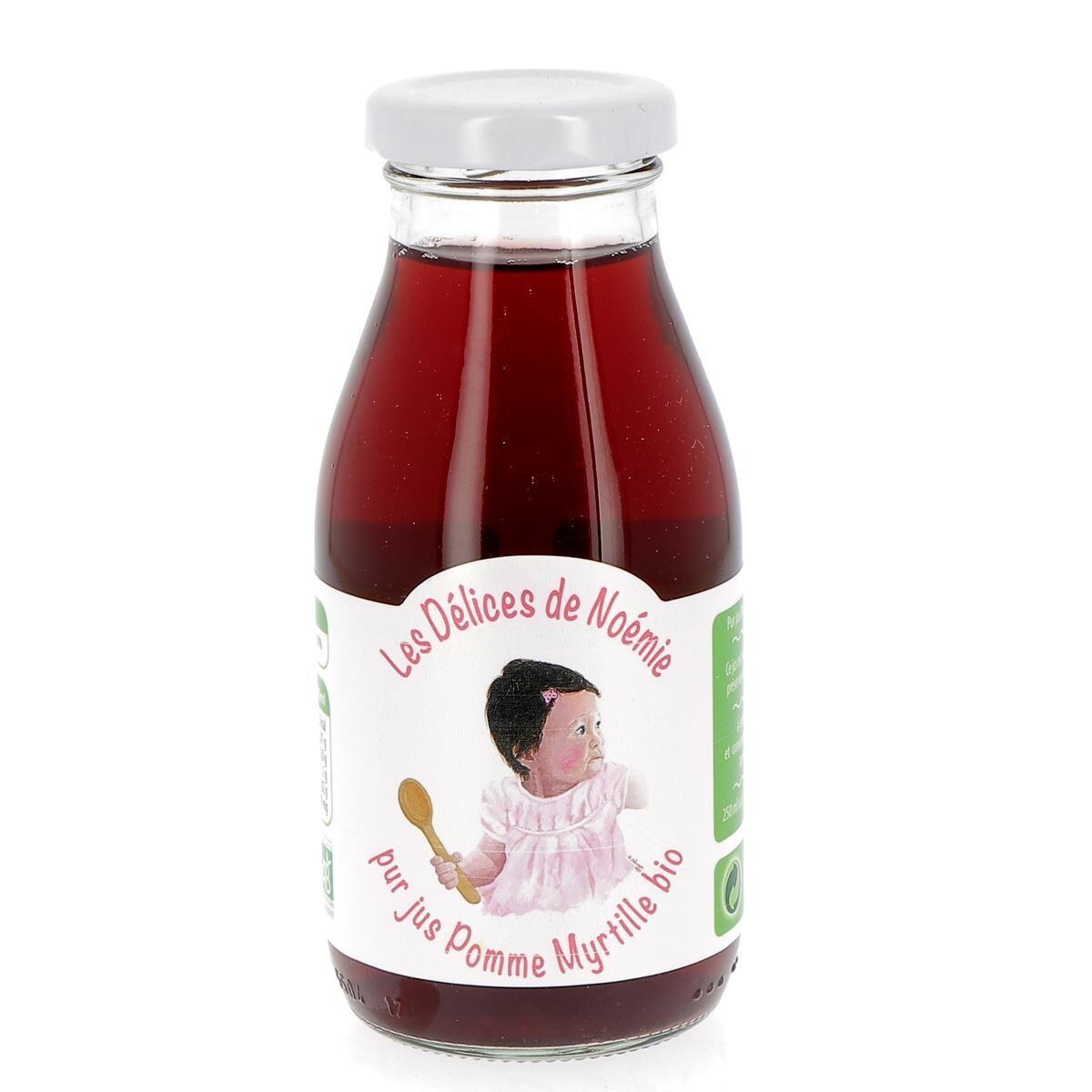 Issu D'à Côté Pur Jus pomme myrtille bio pour bébé, 25 cl