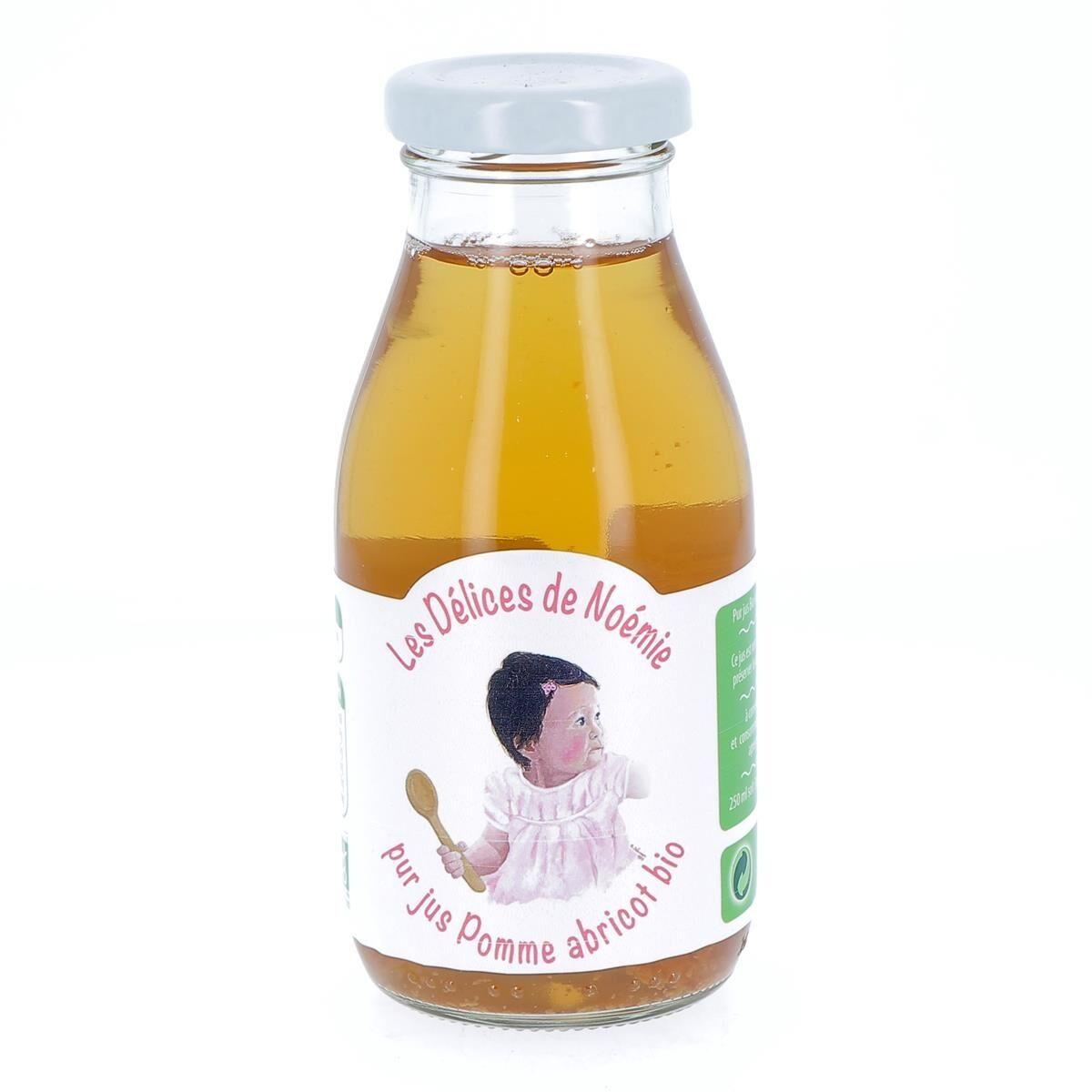 Issu D'à Côté Pur Jus pomme abricot bio pour bébé, 25 cl