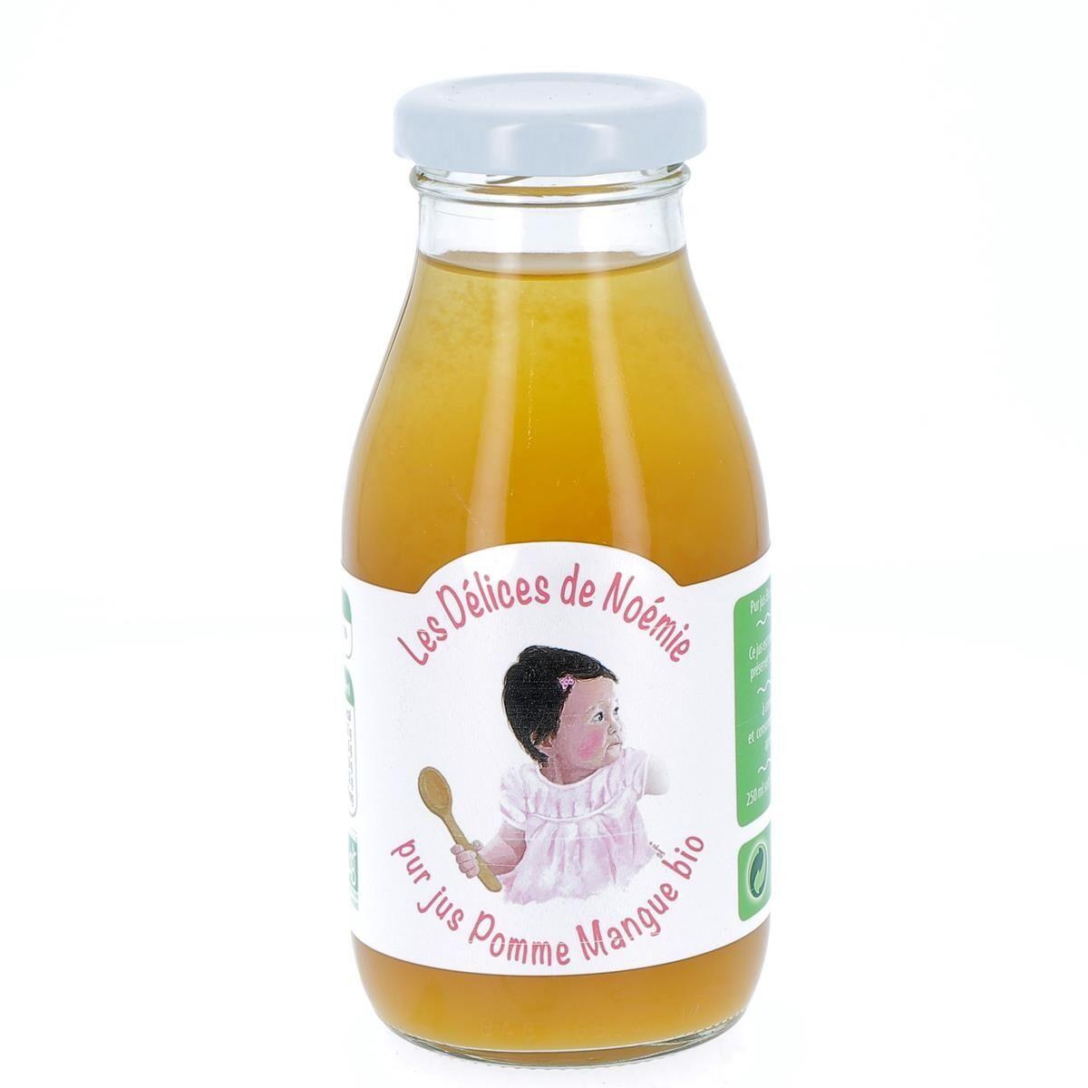Issu D'à Côté Pur Jus pomme mangue bio pour bébé, 25 cl