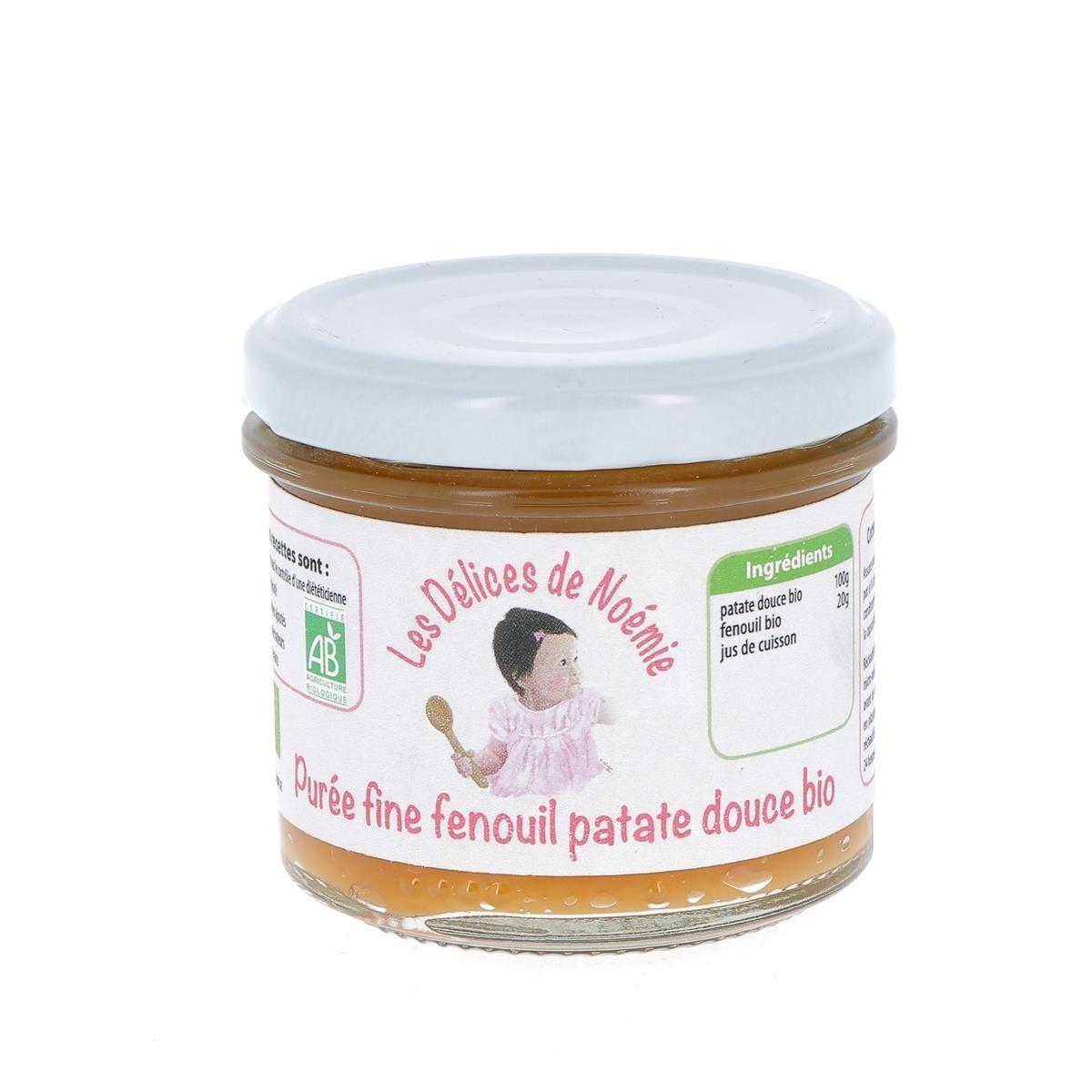 Issu D'à Côté Purée fine fenouil patate douce bio, 120 g