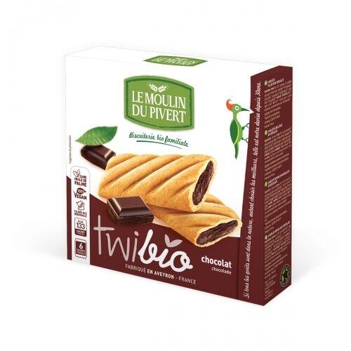LE MOULIN DU PIVERT Biscuits Twibio fourrés au chocolat bio & vegan