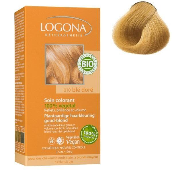 LOGONA Soin colorant Bio 100 % Végétal - Blé Doré - 100 gr - Logona