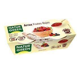 NATURGREEN Dessert Riz Fruits-Rouges 2x125g Bio - NaturGreen