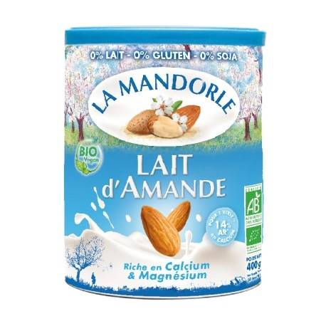 LA MANDORLE Boisson végétale Instantanée Bio Lait d'Amande 400g-La Mandorle