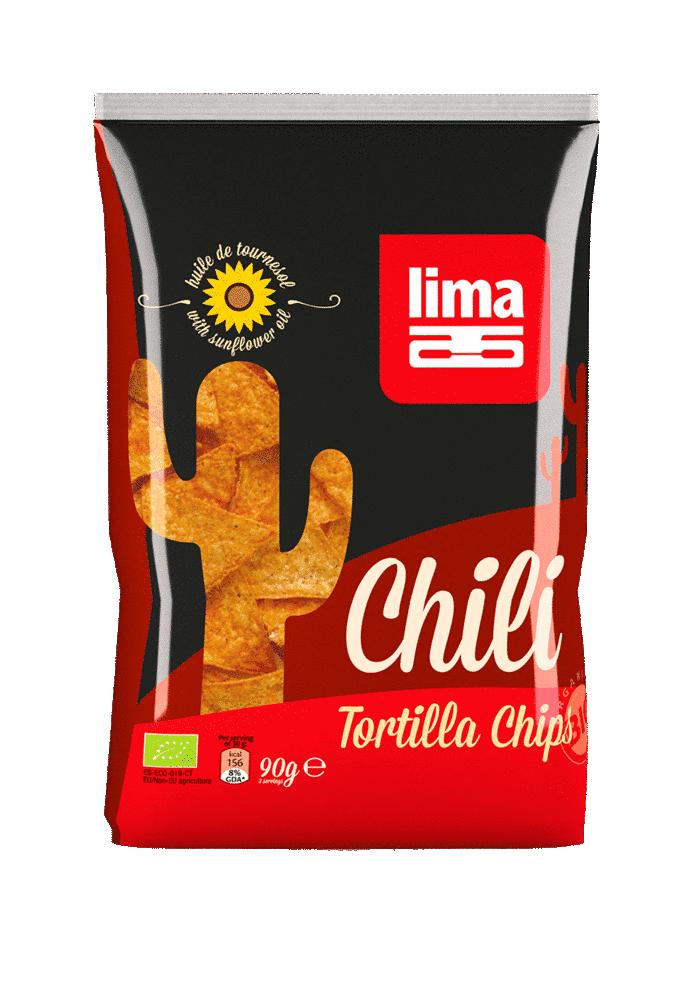 Les Délices De Sarah Tortilla chips chili 90g (sans huile de palme) LIMA