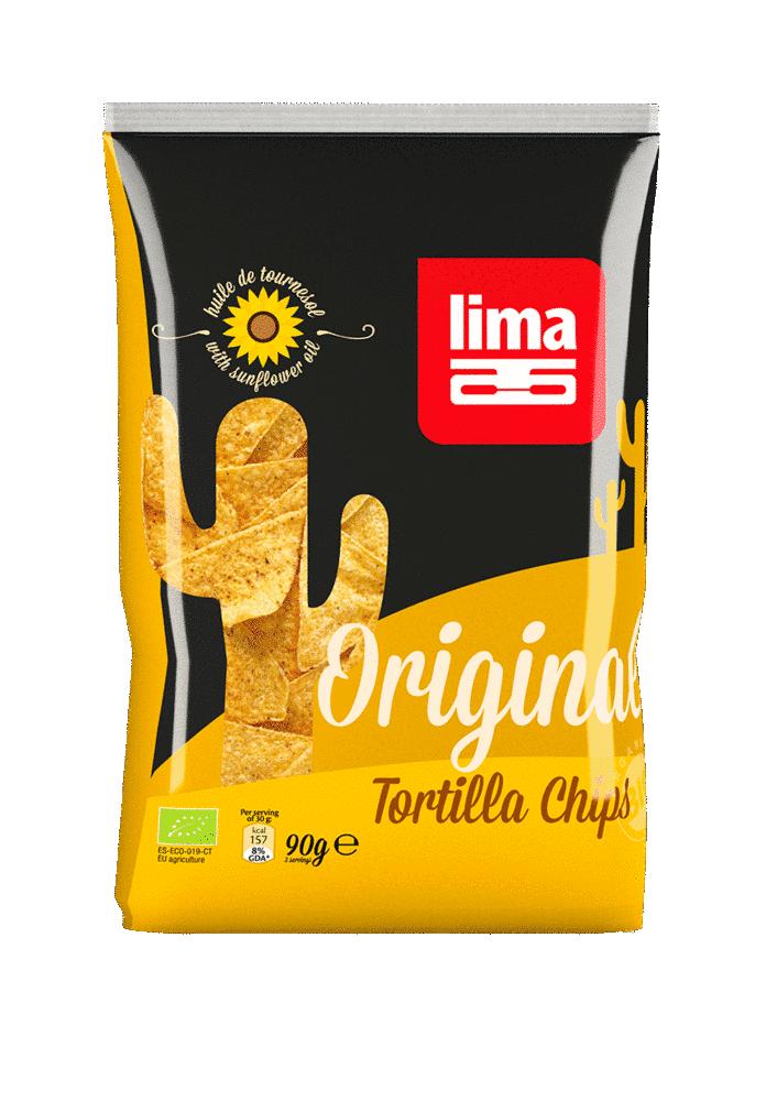 Les Délices De Sarah Tortilla chips original 90g (sans huile de palme) LIMA